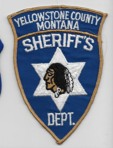 Vintage Yellowstone County Sheriff State Montana MT Indian Head