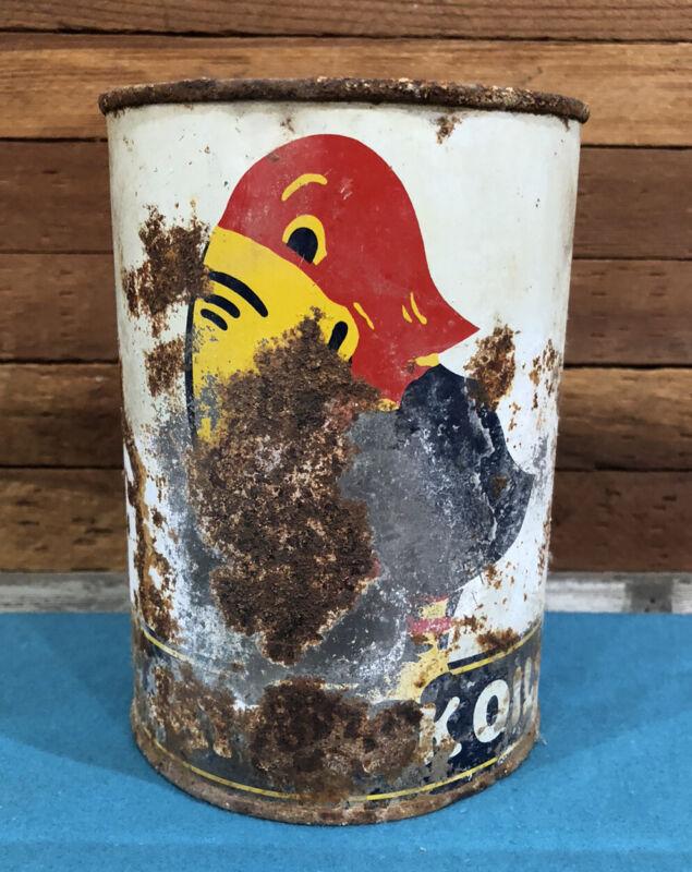Very Rare Vintage Jayhawk Oil Quart Can 1Qt. Kent Oil Salina Kansas Petroliana