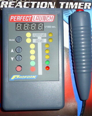 - Proform 67025C Perfect Launch Hanheld Reaction Timer Drag Racing Practise Tree