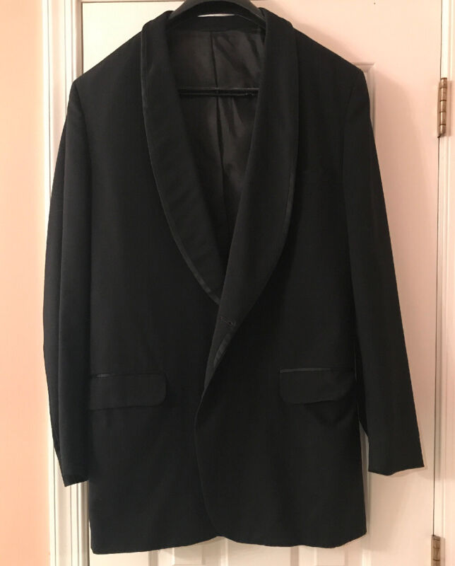 Read & White Black Tuxedo Jacket 44 XL VTG