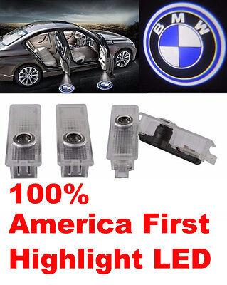 4 For BMW Logo LED Step Door Courtesy Welcome Light Ghost Shadow Laser Projector