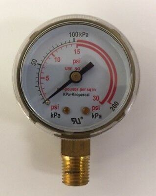 2.5 Low Pressure Gauge For Acetylene Regulator 0-30 Psi14-18npt 2.5x30