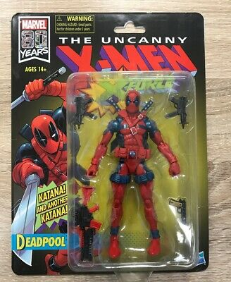 Marvel Legends Deadpool 80th Uncanny X Force Vintage US Seller!! New In Hand