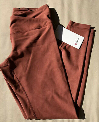 "NWT Lululemon Size 12 Always On HR Tight 28"" Rust Orange SKWR"