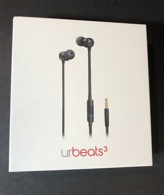 Official Beats by Dr Dre urBeats 3 Earphone BLACK Edition [ 3.5mm Jack ] NEW