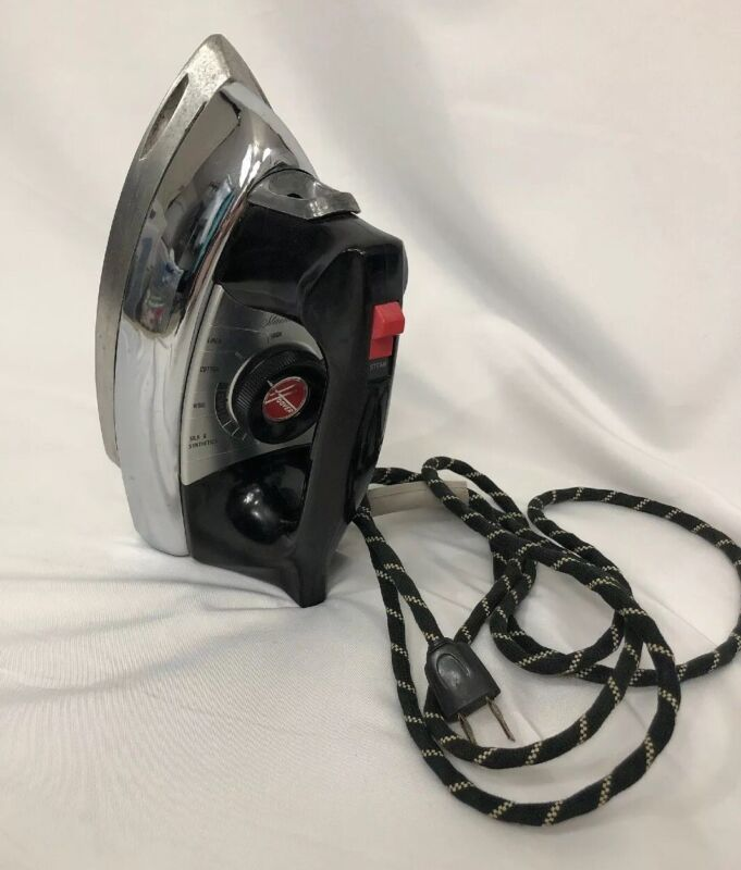 Vintage Hoover Steam Dry Clothes Iron Model 4001 Made in USA Heavy- Works Great