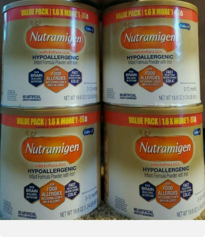 4 Medium cans of Enfamil Nutramigen 19.8 oz each