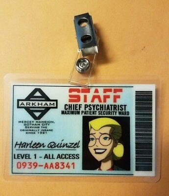 Batman Id Badge-Arkham Staff Pychiatrist Harley Quinn Animierte Cosplay Kostüm - Animierte Kostüm