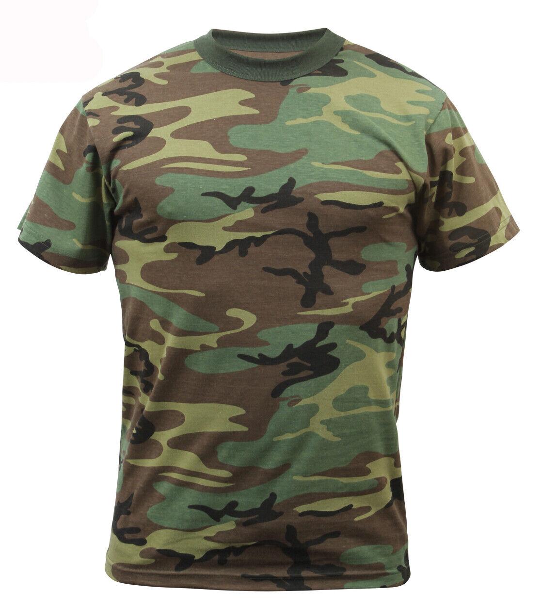 Kids Woodland Camo Boys T-shirt Camouflage Tee Shirt Rothco