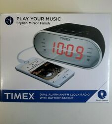 Timex Am/FM Dual Alarm Clock Radio with Digital Tuning 1.2 Red LED Display