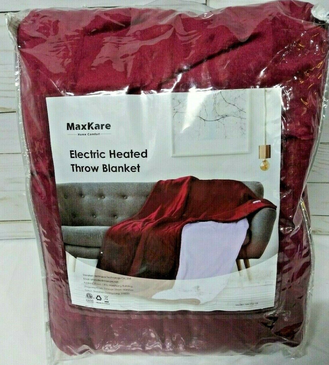 electric heated blanket throw flannel and sherpa