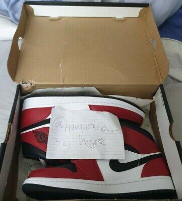Nike Air Jordan 1 mid Chicago black toe size UK9 Box damaged Shoes | brand new ✅
