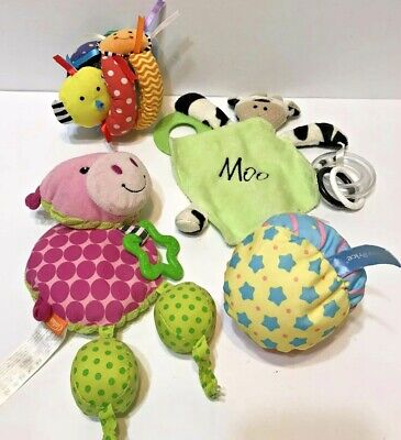 Baby Crib Toys infantino Mud pie Fisher Price Lot Of 4