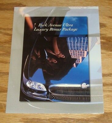 Original 2000 Buick Park Avenue Ultra Luxury Bonus Package Sales Sheet Brochure 2000 Buick Park Avenue Ultra