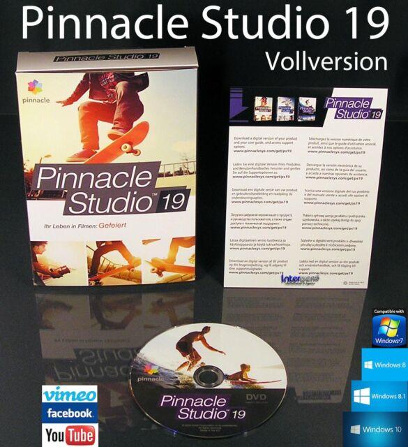Pinnacle Studio 19 Vollversion Box + DVD Videosoftware + Handbuch (PDF) OVP NEU