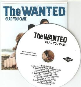 THE-WANTED-GLAD-YOU-CAME-OFFICIAL-RARE-US-9-TRACK-PROMO-CDS-WICKED-REMIXES