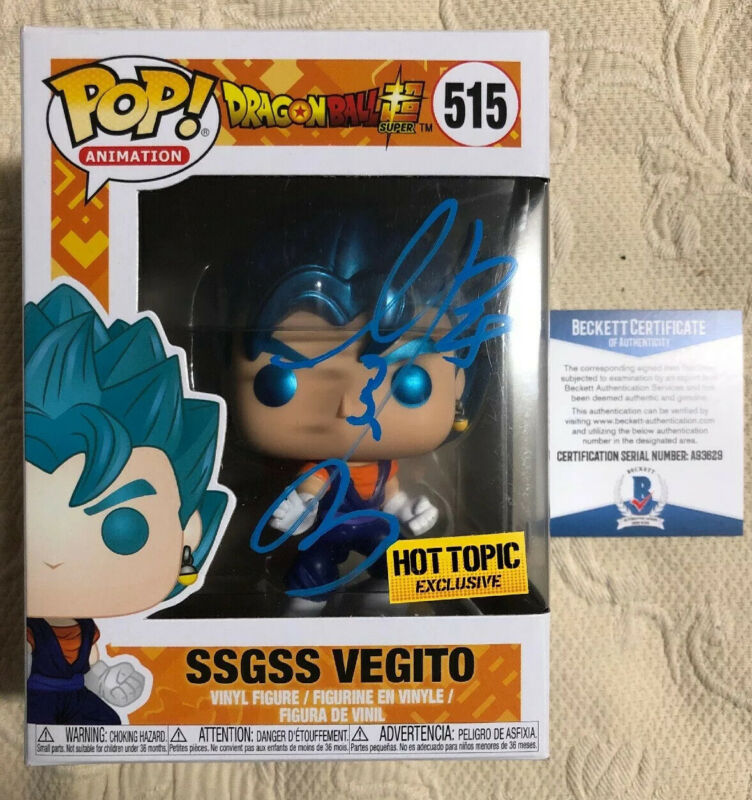 Ryo Horikawa Signed Autographed Vegito Funko Pop Dragon Ball Z BECKETT COA 1
