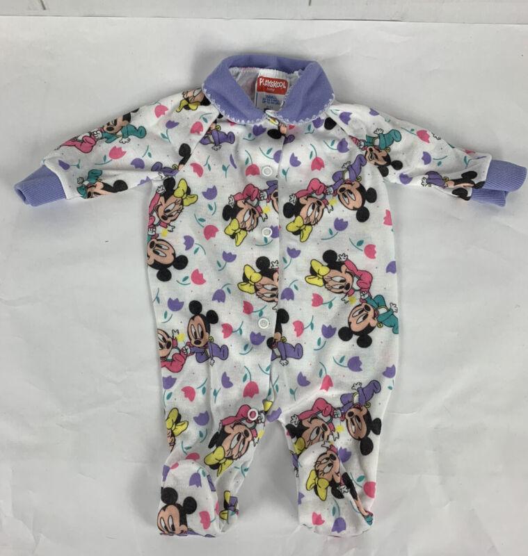 Playskool Disney Baby Mickey Minnie Footed  Sleeper 0-3M
