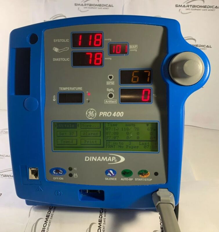 GE Dinamap Pro 400-EN Patient Monitor no accessories & charger~TESTED~