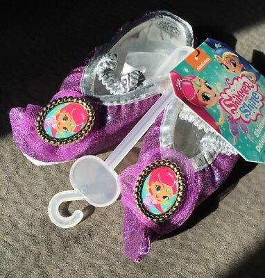 NWT Shimmer And Shine Slippers Shimmer Girl Halloween Costume Shoe S 9-12 (5-6T) - Shining Girls Halloween Costume