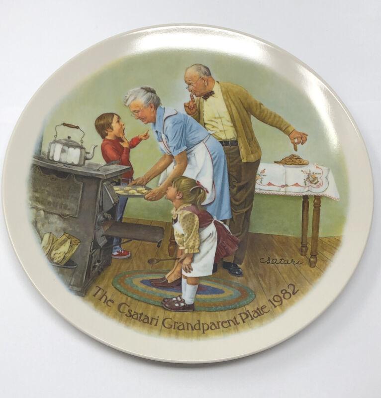 Knowles Fine China The Csatari Grandparent Plate 1982 The Cookie Tasting #4173C