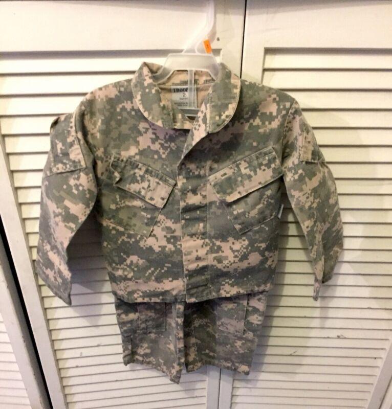 Kids United States Army ACU Camo Trooper Clothing 2 Toddler Uniform Shirt Pants