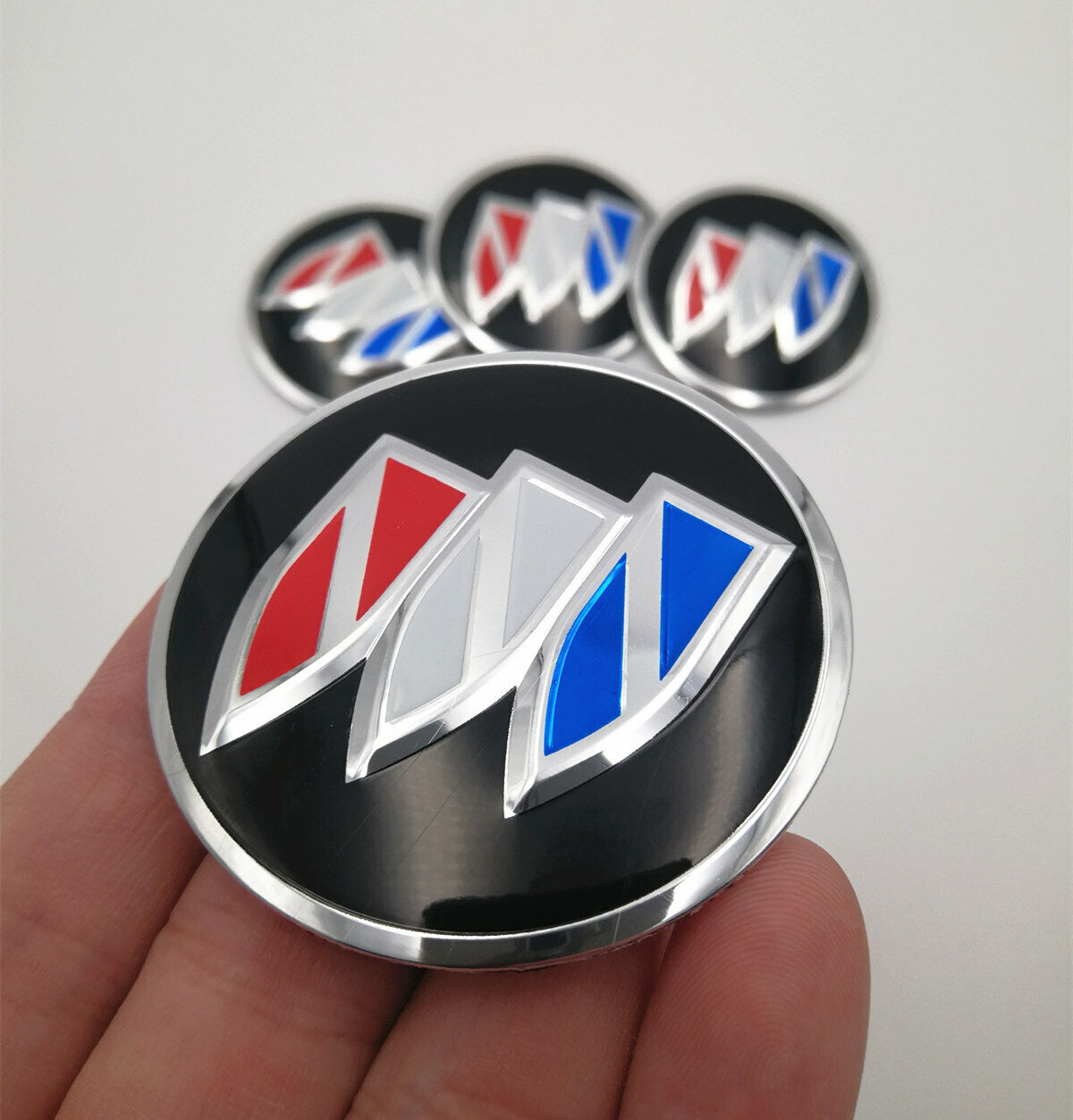 "4x 56mm 2.2/"" Auto Wheel Center Hub Cap Emblem Badge Decal Sticker for R Sports"