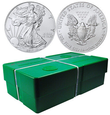 Click now to see the BUY IT NOW Price! 2017 AMERICAN SILVER EAGLE   SEALED MONSTER BOX OF 500 COINS PRESALE SKU44368