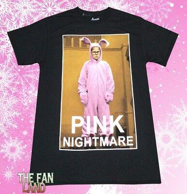 New A Christmas Story Pink Nightmare Bunny Pajamas Photo Mens Vintage T-Shirt - A Christmas Story Pajamas