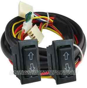 Universal 2 door power window u wire wiring harness switch for 2 door power window switch kit