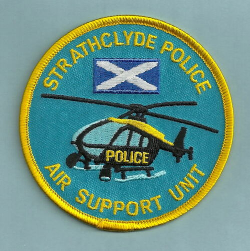 STRATHCLYDE SCOTLAND POLICE HELICOPTER AIR SUPPORT UNIT SHOULDER PATCH