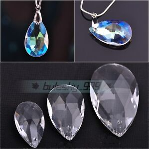 10pcs-Faceted-Glass-Crystal-Pendant-Lamp-Decorate-Charm-Teardrop-Bead-22-28-38mm