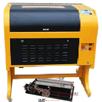 Co2 Laser Engraving Cutting Machine 60w Laser Tube And Rotary Attachment Simple