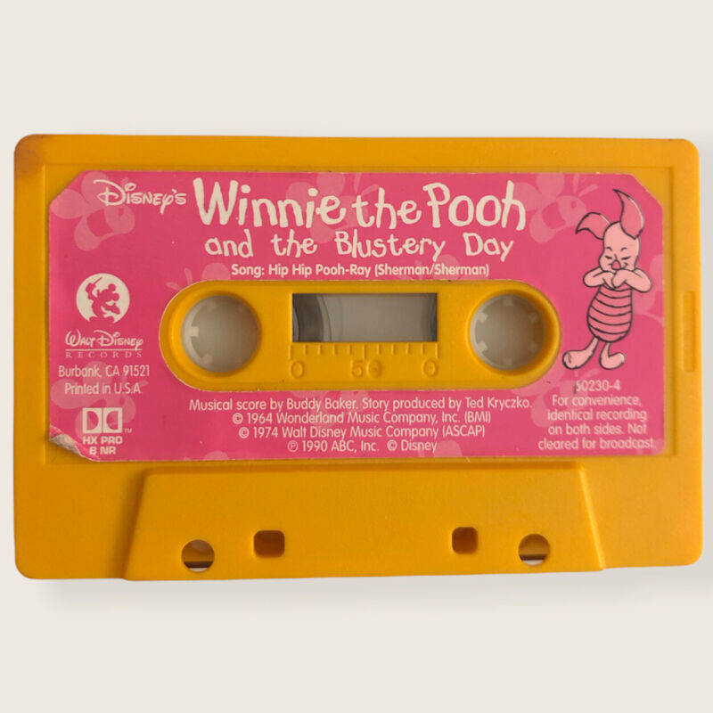 Winnie the Pooh and the Blustery Day Story Plus Song Cassette