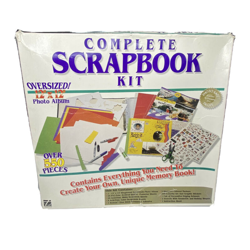 Thompson Complete Scrapbook Kit Only Missing Sharpie Markers