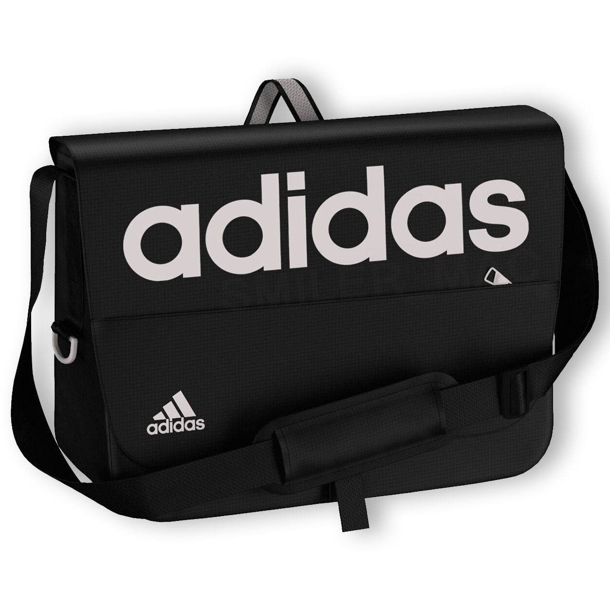 152d8f46fa0a Black adidas Linear Messenger bag with grey logo. The Adidas Linear bag is  great for college