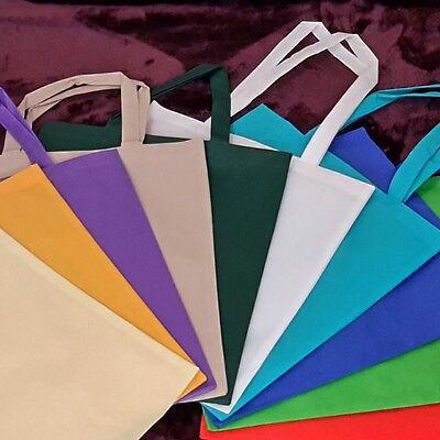 Non Woven Taschen 10 Stk - Lange und kurz Henkel mit verschiedene farben (PP)