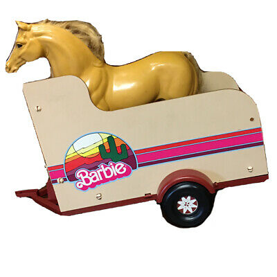 Vintage Mattel Barbie Horse Trailer With Horse And Saddle GUC 1970s Classic