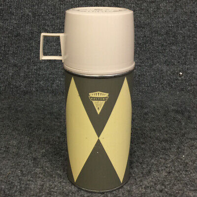 Vintage Retro Holtemp American 10oz Thermos 2044H W/ Stopper & Cup Lid
