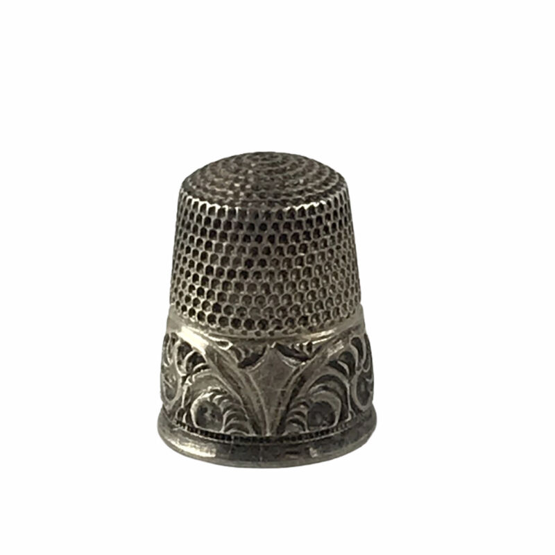 Antique Vintage Sterling Silver Sewing Thimble Size 9 Marked Notion Collectible