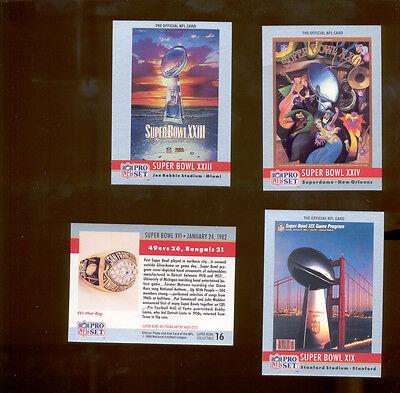 1990 Pro Set San Francisco 49ers Super Bowl XVI XIX XXIII & XXIV Theme Art Set](49ers Theme)