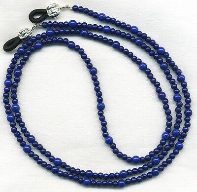NAVY BLUE Beaded Eyeglass-Glasses Holder Leash Necklace Chain *CUSTOM LENGTH*