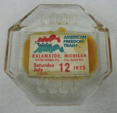 Vtg Kalamazoo Western Michigan University American Freedom Train 1975 Ashtray  for sale  Ferdinand