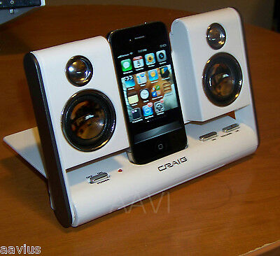 CRAIG Portable Powered Travel Speaker Dock for iPod Nano iPhone Zune MP3 Player