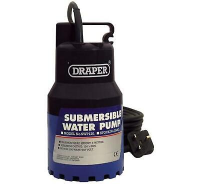 Draper 35463 120L/Min 200W 110V Submersible Water Pump with Float Switch Garden