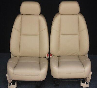 2014 2013 2012 Tahoe Yukon Front Seats In Tan Leather