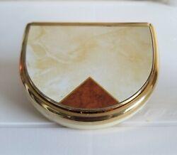 Vintage Seiko Seikosha Travel Alarm Clock Flip Top Battery Operated Gold Tone