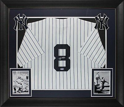 Yankees Yogi Berra Authentic Signed & Framed Pinstripe Majestic Jersey PSA/DNA Autographed Majestic Authentic Pinstripe Jersey