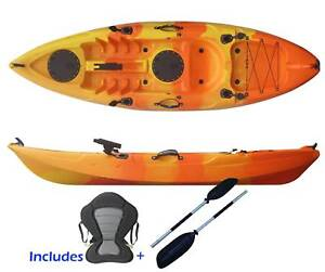 Brand New 2.7M Single Kayak with 5 Rod Holders 8 colors available
