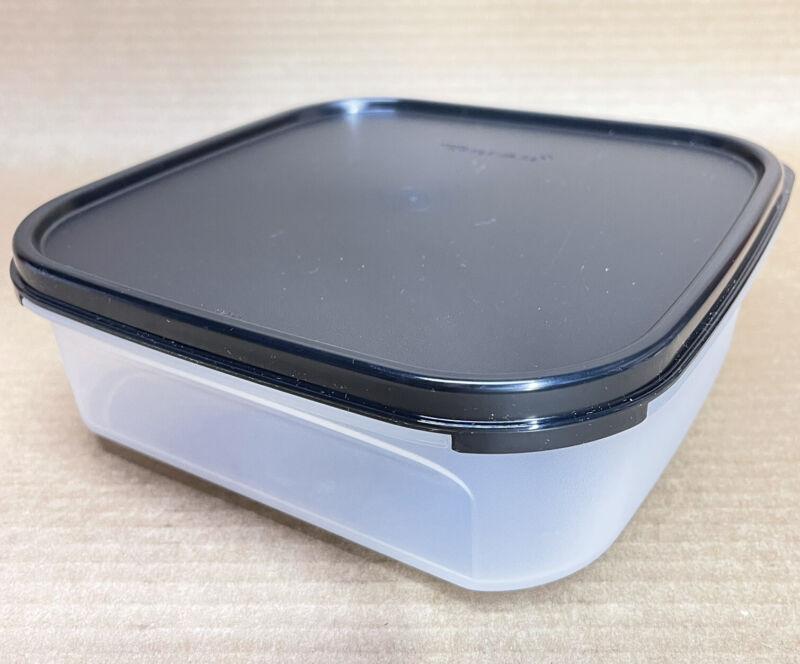 Tupperware Modular Mates Square #1 Container 5 Cup Black Seal New